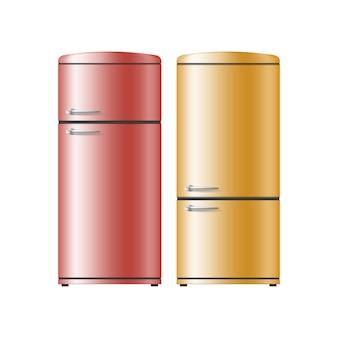 Twee realistische koelkasten