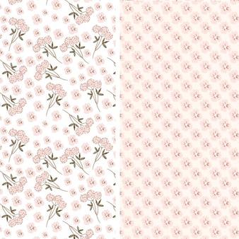 Twee roze bloemen patronen