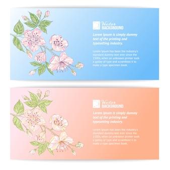 Twee sakura-banners
