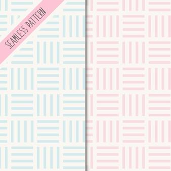 Twee schattige geometrische naadloze patronen
