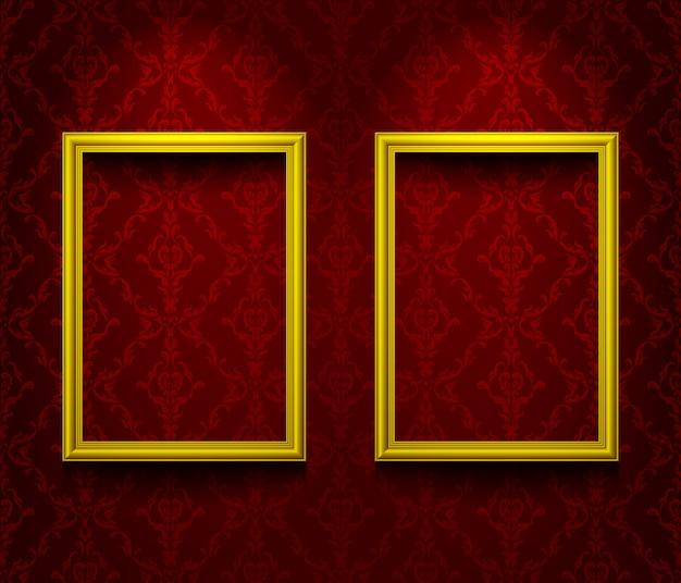 Twee verlichte frames