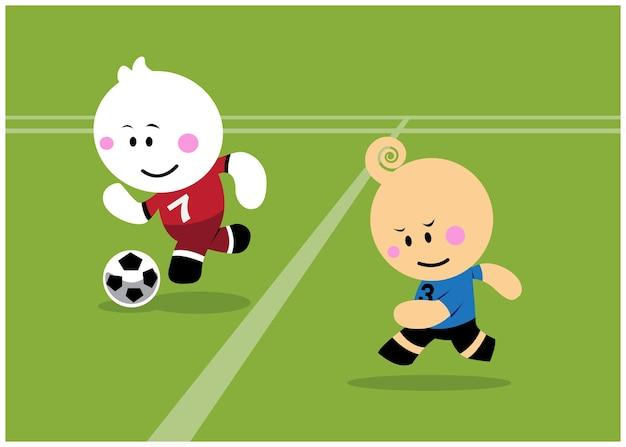 Twee voetballer in de arena.