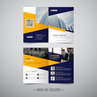 Twee voudige zakelijke brochure sjabloon
