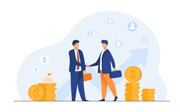 Twee zakelijke partners handshaking