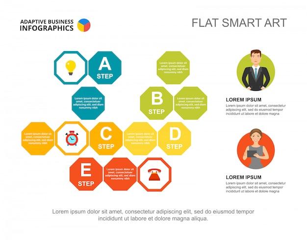 Twee zakelijke partners verwerken grafieksjabloon voor presentatie. visualisatie van bedrijfsgegevens.