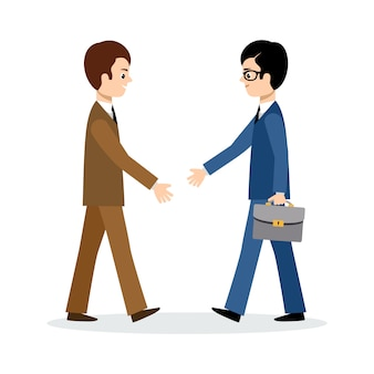 Twee zakenlieden ondertekenen het contract