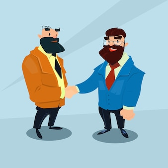 Twee zakenman hand shake