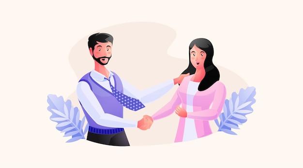 Twee zakenpartners handshaking