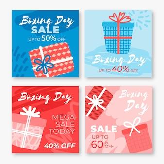 Tweede kerstdag evenement verkoop instagram posts pack