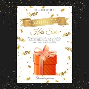 Tweede kerstdag poster sjabloon afdrukken