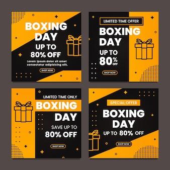 Tweede kerstdag promo verkoop poster ontwerpsjabloon