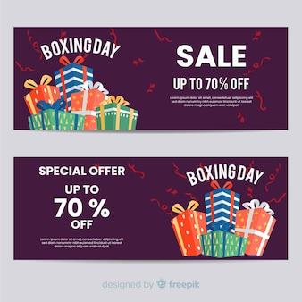 Tweede kerstdag verkoop banner