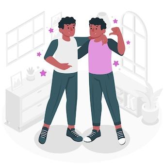 Tweeling concept illustratie