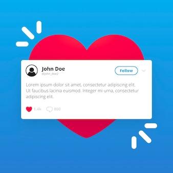 Tweet layout twitter