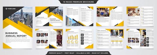 Tweevoudig brochuremalplaatje met minimalistisch concept