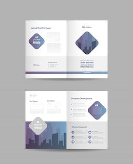Tweevoudig brochureontwerp