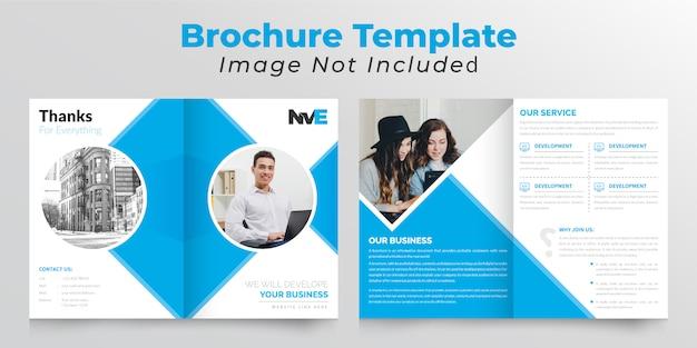Tweevoudige bedrijfsbrochure met rechthoekige vorm