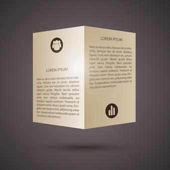 Tweevoudige brochure met pictogrammen sjabloon