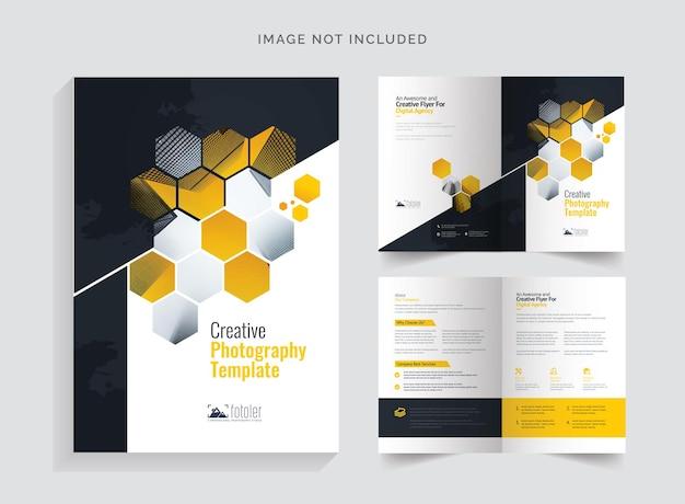Tweevoudige brochure over fotografie