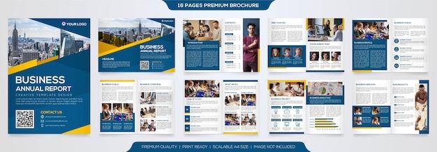 Tweevoudige brochure sjabloon premium