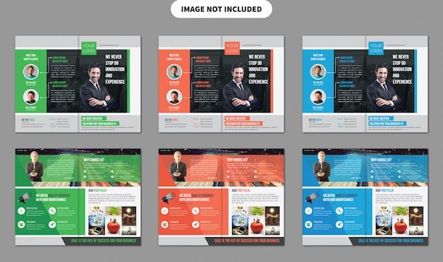 Tweevoudige brochure template