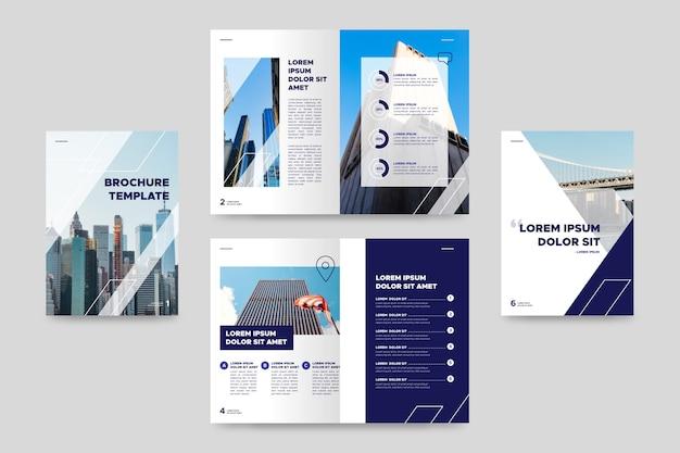 Tweevoudige zakelijke brochure sjabloon