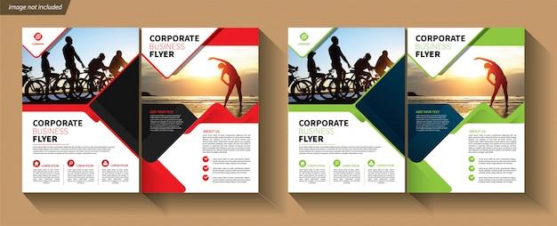 Tweevoudige zakelijke sjabloon voor brochure bedrijven