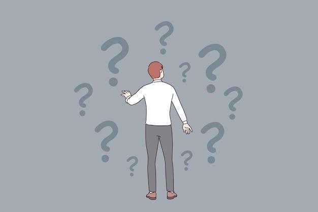 Twijfel vraag onzeker concept