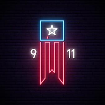 Twin towers op amerikaanse vlag