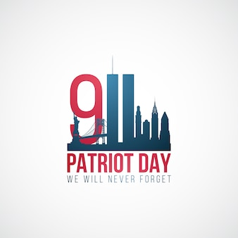 Twin towers, patriot dag achtergrond
