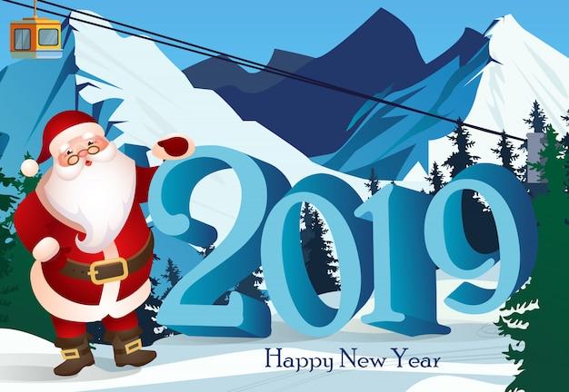 Twintig negentien letters en skioord met de kerstman