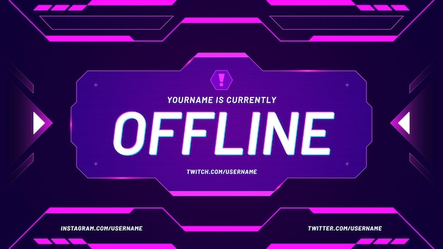Twitch-achtergrond momenteel offline