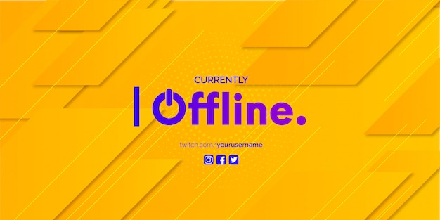Twitch banner design met abstracte achtergrond sjabloon