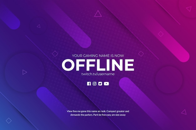 Twitch gaming absctract achtergrond offline
