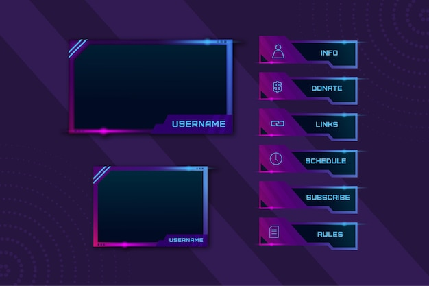 Twitch stream panelen pack