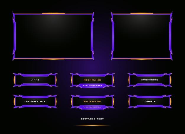 Twitch streamer paneeloverlay-set
