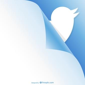 Twitter gekrulde pagina ontwerp