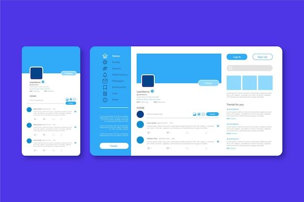 Twitter-interface