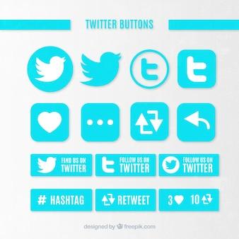 Twitter knoppen