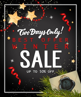 Two days only winter sale lettering