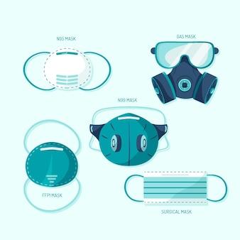 Type gezichtsmaskers instellen