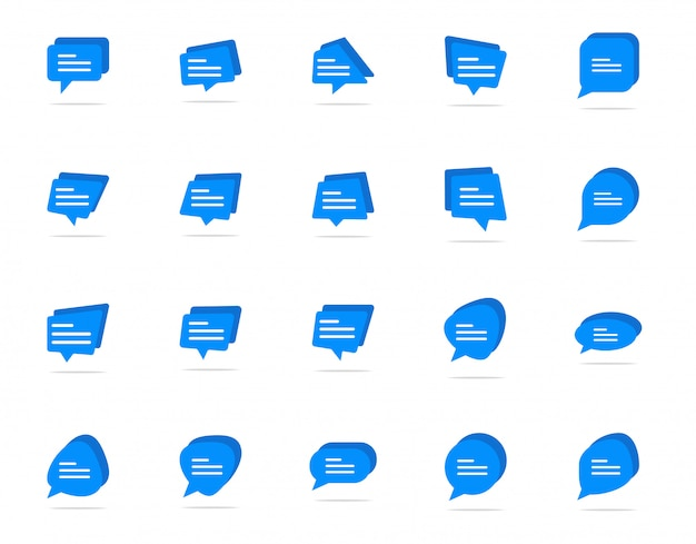 Typen in een chat-bubble-pictogram, symbool voor reactiesymbool