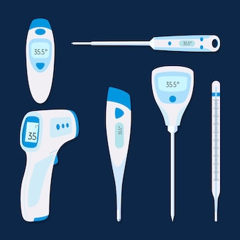 Typen thermometer met plat ontwerp