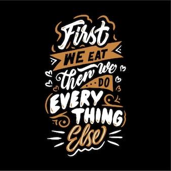 Typografie belettering ontwerp