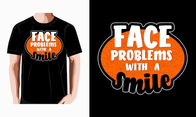 Typografie citaat motivatie t-shirt premium vector