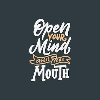 Typografie citeert motivatie voor het leven
