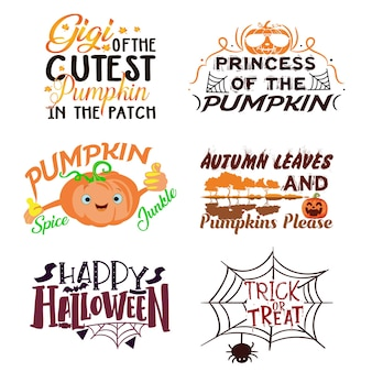 Typografie halloween-t-shirtontwerp