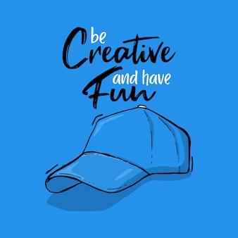 Typografie hand belettering hoed citaat