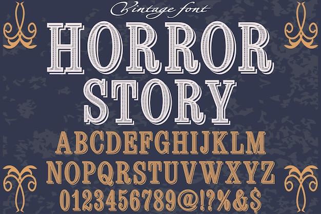 Typografie lettertype typografie lettertype ontwerp horror verhaal