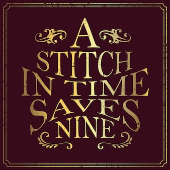 Typografie ontwerp engels zeggen in vintage stijl